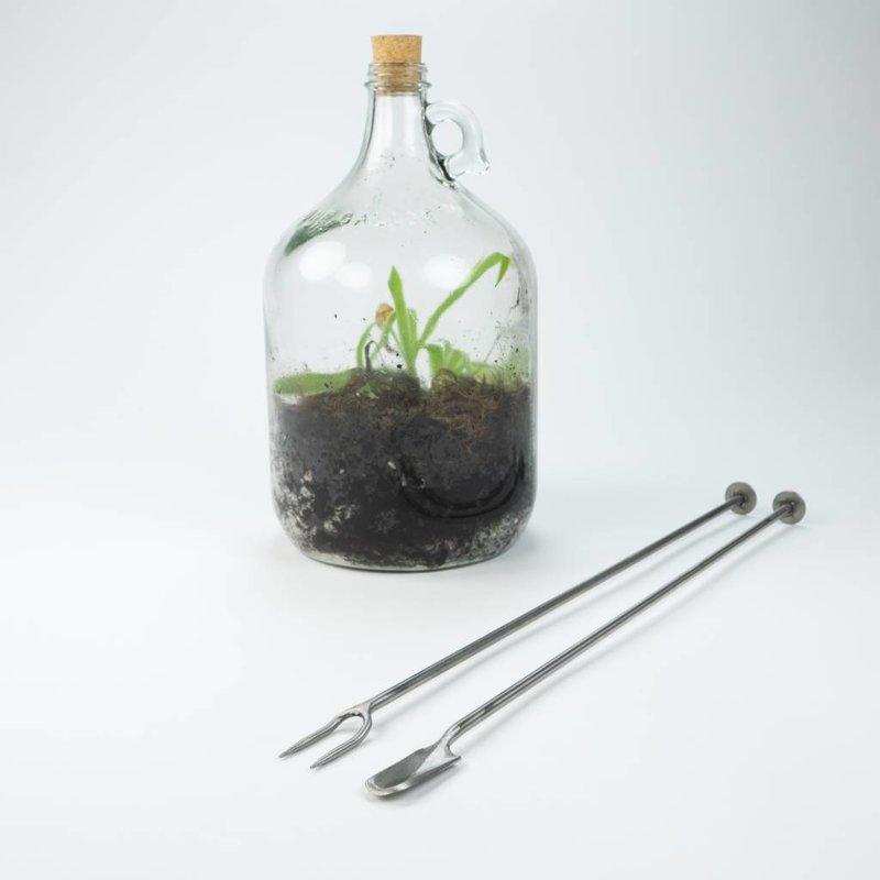 Terrarium fork mit stamper