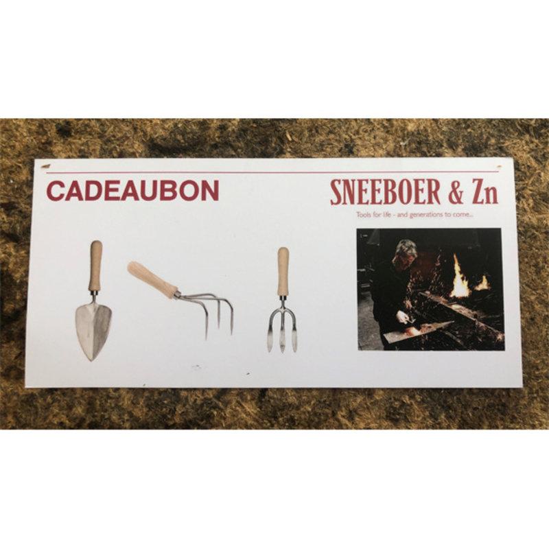 Sneeboer Chèque cadeau Sneeboer 25 €