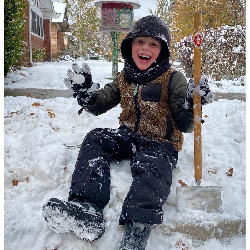 Kinder Schneeschieber gross