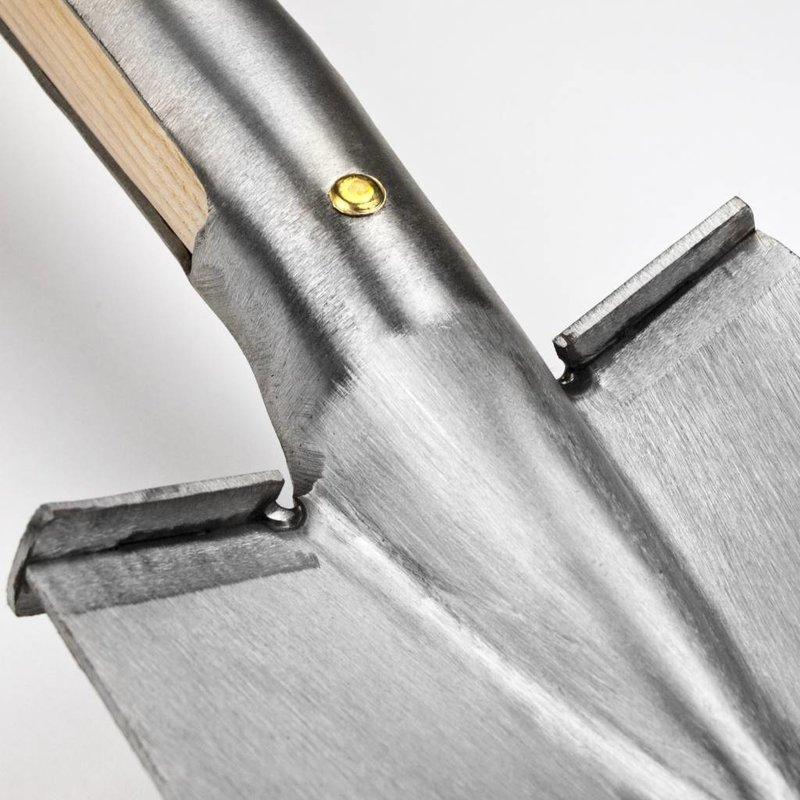Border Spade met steps 100 cm Steel