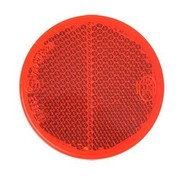 Reflector 60 mm plak rood