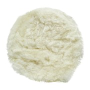Lamswolpad wit 180 mm (klittenband diameter 150mm)
