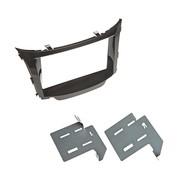 Hyundai I30 2012> dubbel din voor navigatie met metalen beugels piano zwart