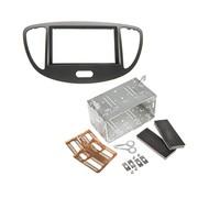 Hyundai I10 2011> Dubbel din voor navigatie met universele kit zilver