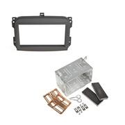 Fiat 500L 2012> dubbel din voor navigatie + universele kit zwart