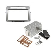 Toyota Corolla Verso 2005> Dubbel din voor navigatie met universele kit zilver