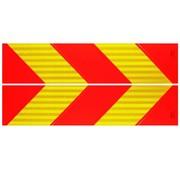 Reflectie strepen rood/oranje set