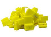 Aftakconnector geel