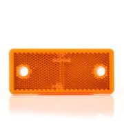 Reflector Rechthoek oranje 96 x 42 mm schroef