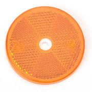 Reflector Rond oranje 60 mm schroef