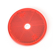 Reflector Rond rood 60 mm schroef - Blister