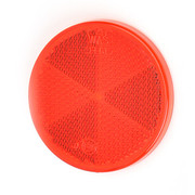 Reflector Rond rood 60 mm plak