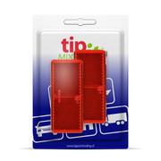Reflector Rechthoek rood 96 x 42 mm plak - Blister