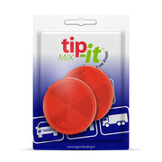 Reflector Rond rood 60 mm plak - Blister