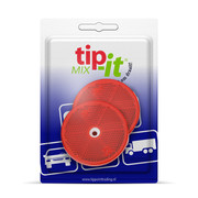 Reflector Rond rood 60 mm schroef