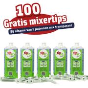 TIP-IT ACTIE MIX TRANSPARANT 5 STUKS  + 100 MIXERTIPS GRATIS