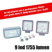 LED WERK LAMP 9X3W 6000K 128X110 1755 PRO ACTIE SET