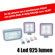 LED WERK LAMP KLEIN 4X3W 6000K 85X85 97 PROACTIE SET
