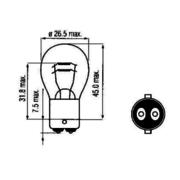 LAMP BOSMA 12V - 21/5W BAY15D