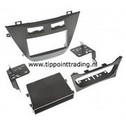 Opel Insignia 2012> dubbel din voor navigatie + metalen beugels zwart
