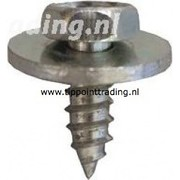 Plaatschroef zeskantkop met ring 4,8 x 13 mm blank gegalvaniseerd, (50 stuks)