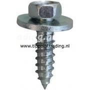 Plaatschroef zeskantkop met ring 5,5 x 19 mm blank gegalvaniseerd, (50 stuks)