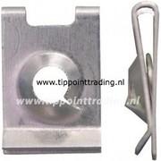 Speednut 4,8 mm verzinkt mat bmw mec opel (50 stuks)