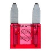Mini steekzekeringen 10 mm 10 A (25 stuks)