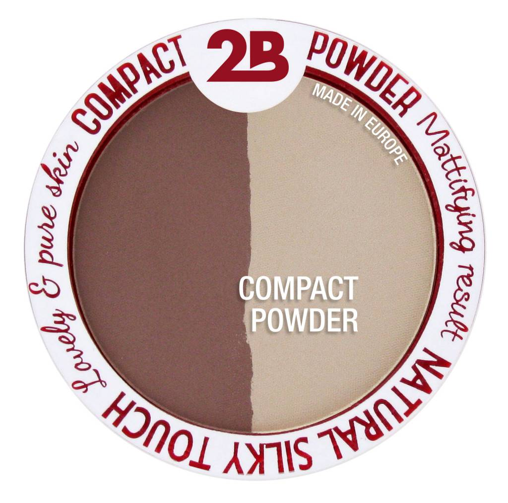 2B Cosmetics Powder Glow Duo Bronzing & Highlighting - 01 Gold