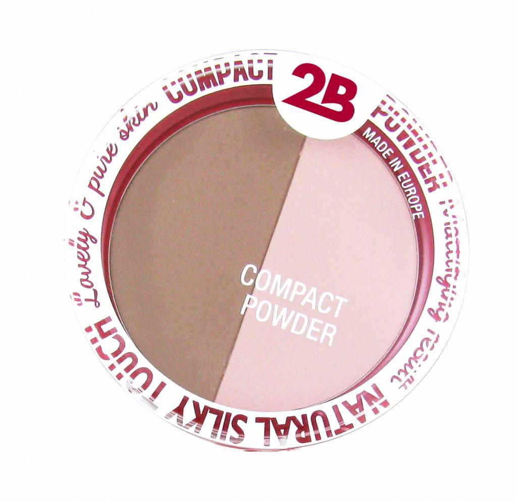 2B Cosmetics Powder Glow Duo Bronzing & Highlighting - 02 Rose