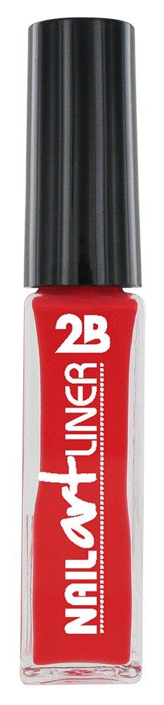 2B Cosmetics Nail Art Liner 14 Coral Red