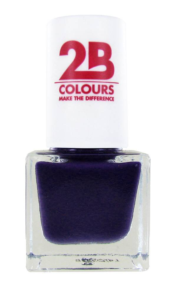2B Cosmetics NAGELLAK MEGA COLOURS MINI - 107 Deep Purple