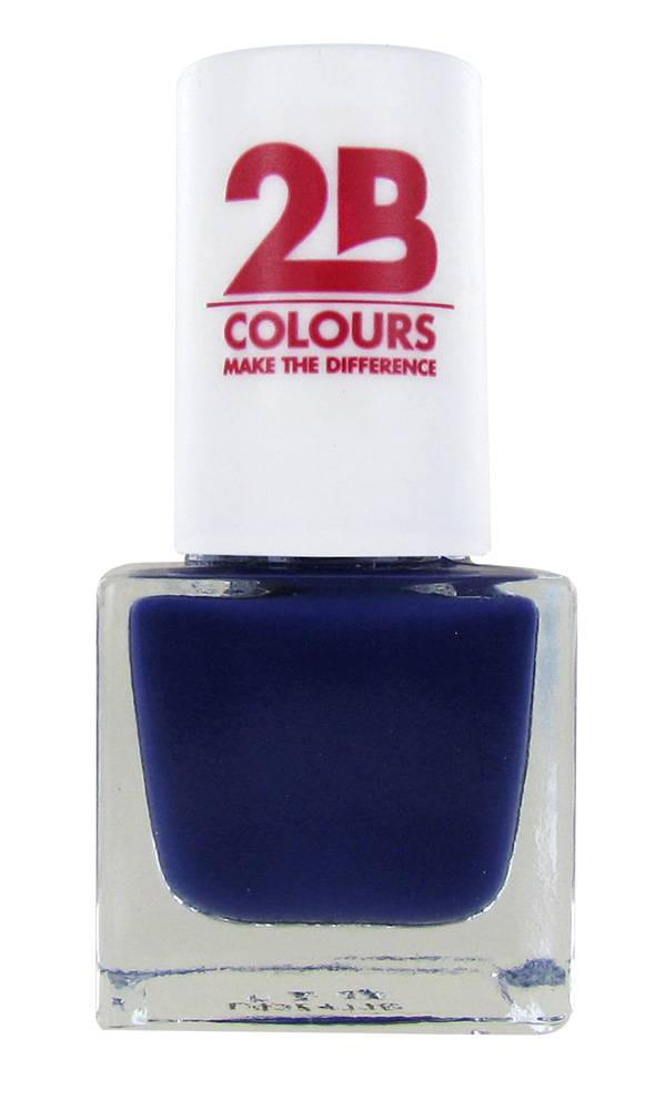 2B Cosmetics NAGELLAK MEGA COLOURS MINI - 108 Dark Velvet Blue