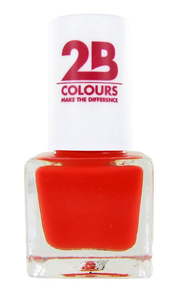 2B Cosmetics VERNIS à ONGLES MEGA COLOURS MINI - 101 Awesome Orange