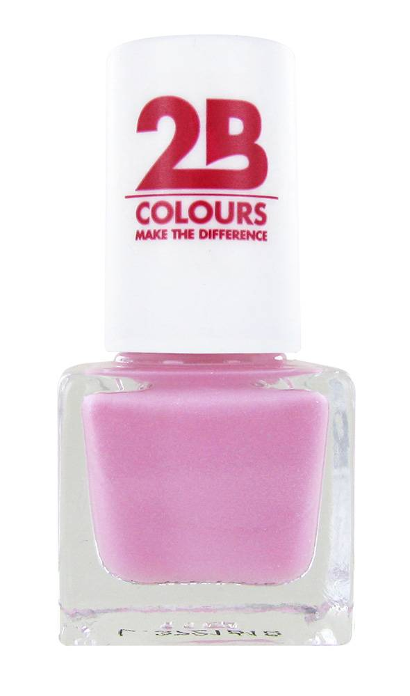 2B Cosmetics NAGELLAK MEGA COLOURS MINI - 95 Sweet & Pink
