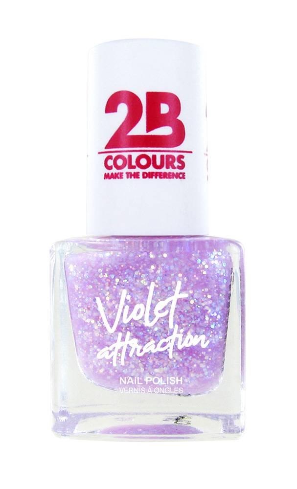 2B Cosmetics Nail Polish 730 Violet Attraction