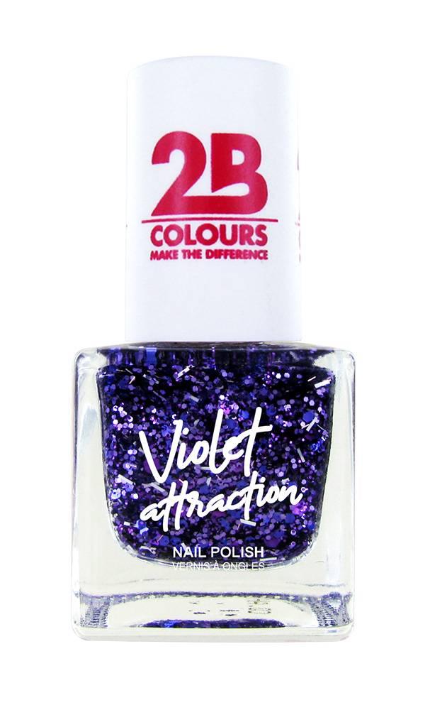 2B Cosmetics Nail Polish 732 Violet Attraction