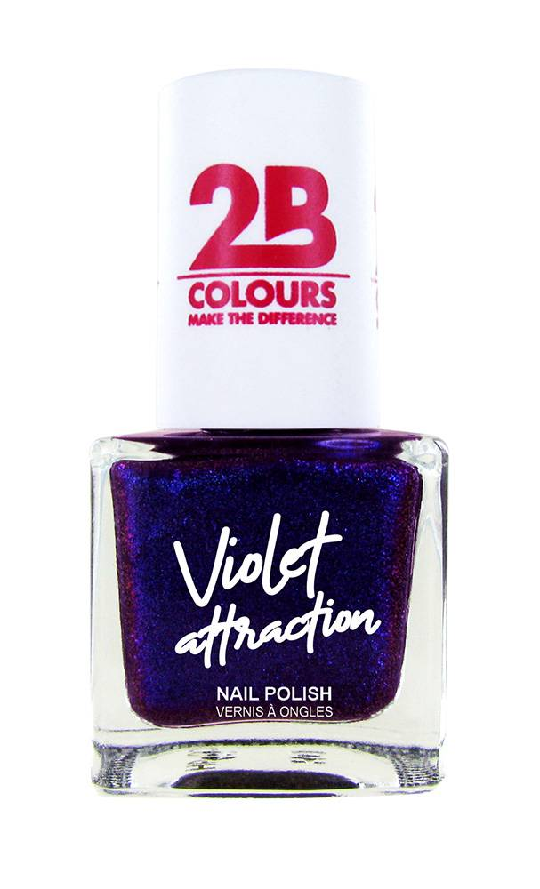 2B Cosmetics Nail Polish  733 Violet Attraction