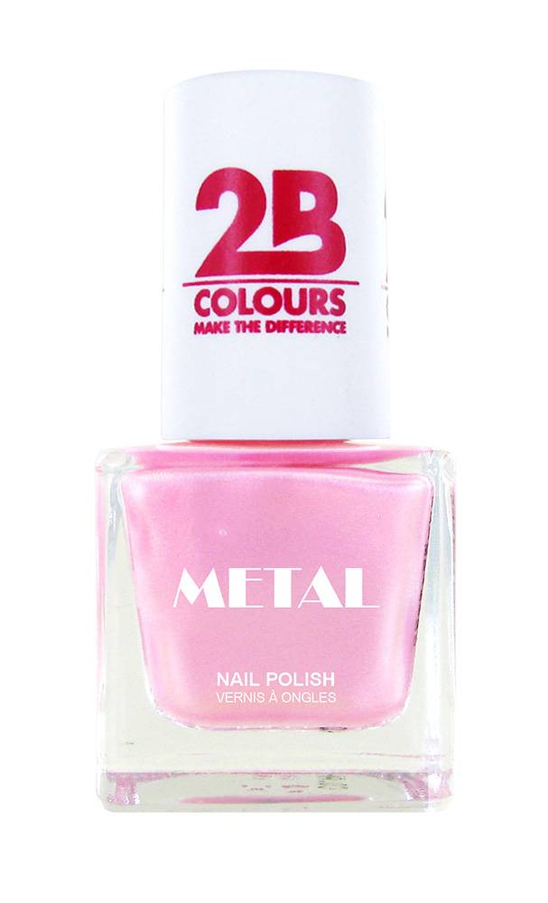 2B Cosmetics Vernis à ongles Metal 725 Pink Ballet