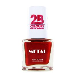 2B Cosmetics Vernis à ongles Metal 726 Coral Red