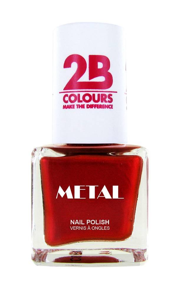 2B Cosmetics Nagellak Metal 726 Coral Red