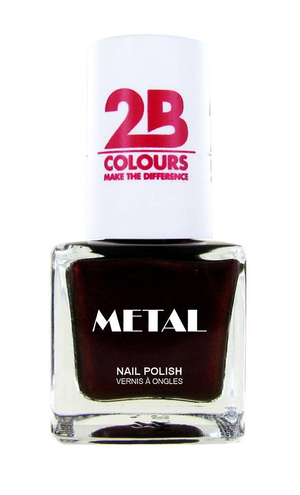 2B Cosmetics Nail polish Metal 727 Burgundy