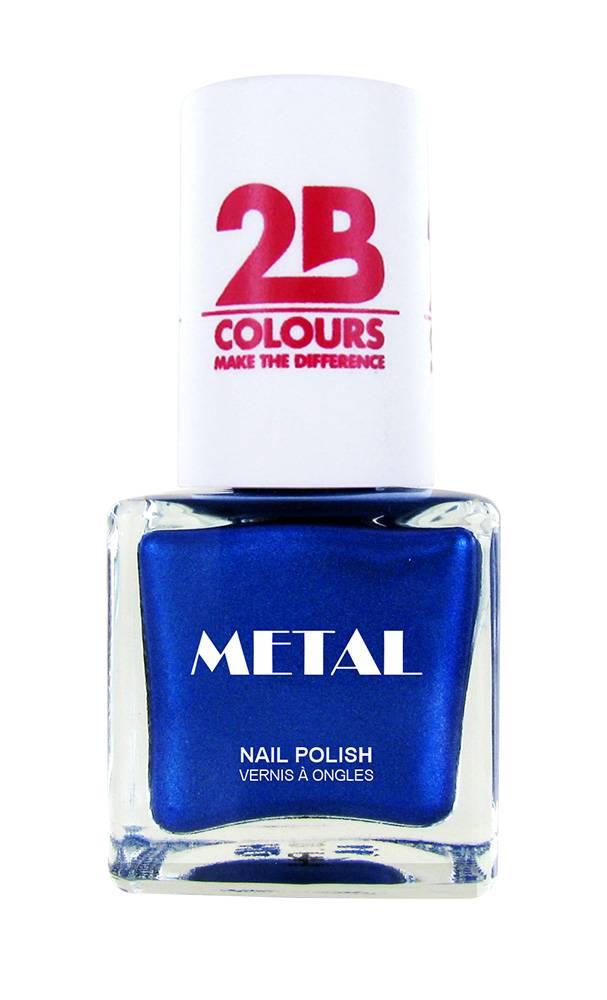 2B Cosmetics Vernis à ongles Metal 728 Royal Blue