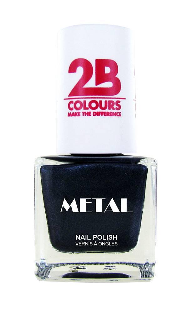 2B Cosmetics Nail polish Metal 729 Grey Water