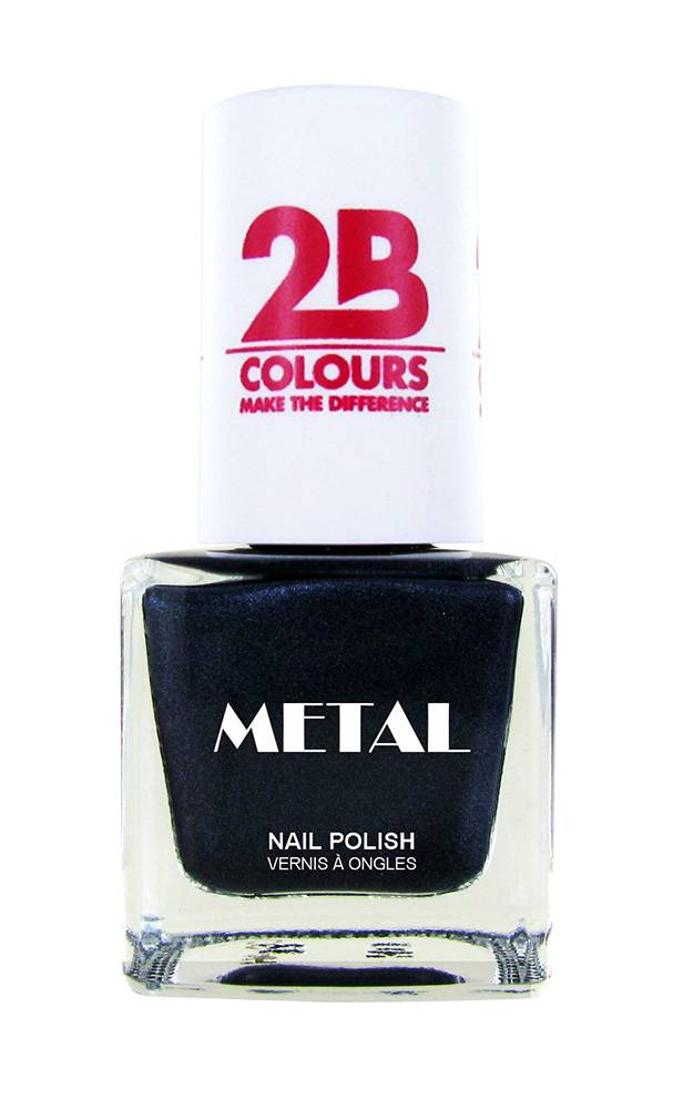2B Cosmetics Vernis à ongles Metal 729 Grey Water