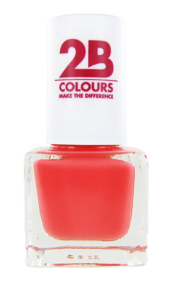 2B Cosmetics VERNIS à ONGLES MEGA COLOURS MINI - 83 Peach Parfait