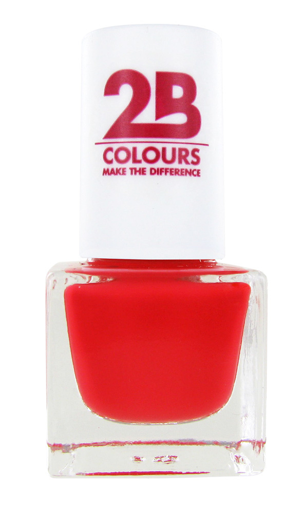 2B Cosmetics NAIL POLISH MEGA COLOURS MINI - 84 Sunny Coral