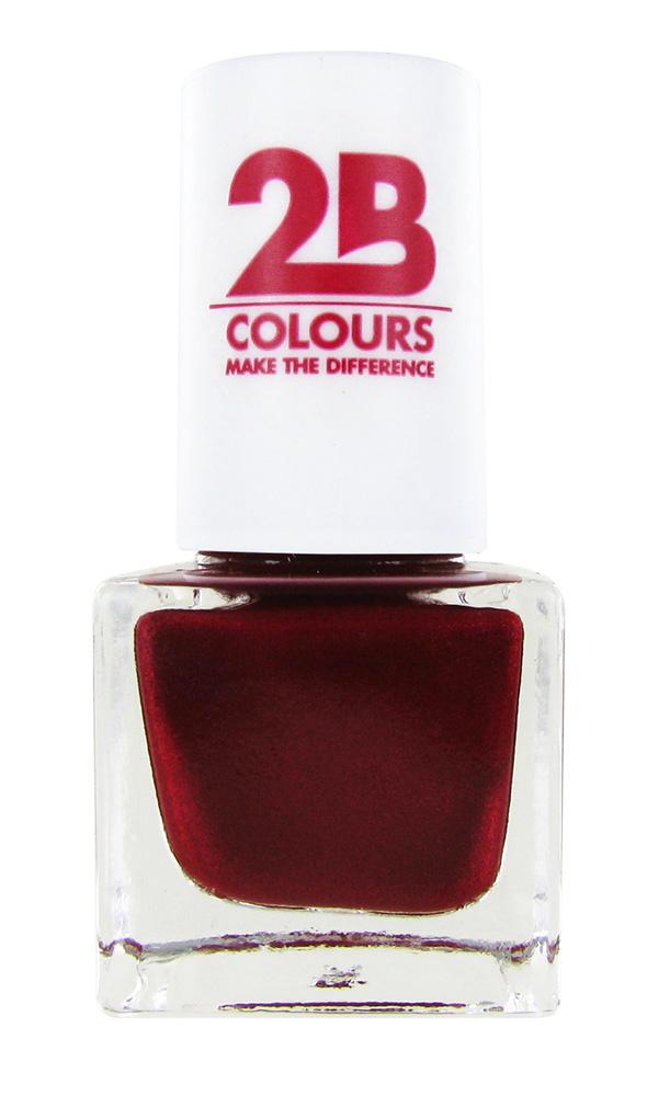 2B Cosmetics NAIL POLISH MEGA COLOURS MINI - 87 Code Red