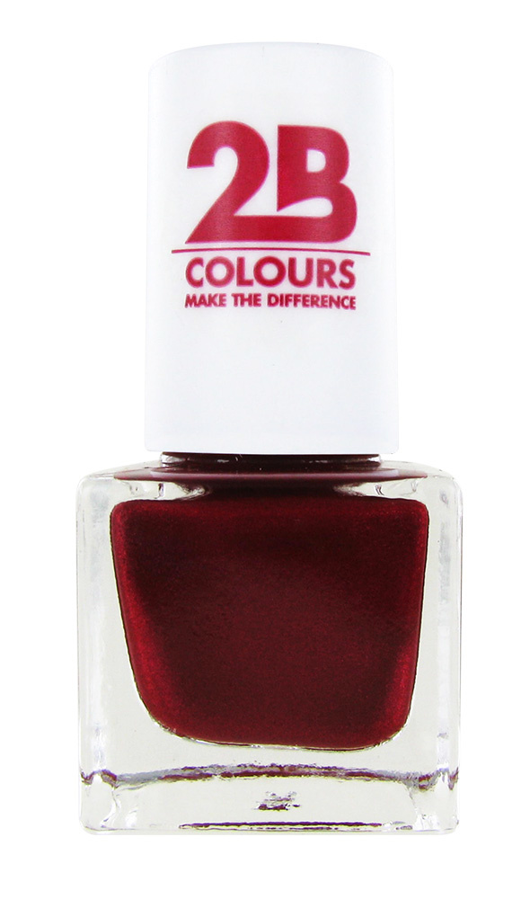 2B Cosmetics VERNIS à ONGLES MEGA COLOURS MINI - 87 Code Red