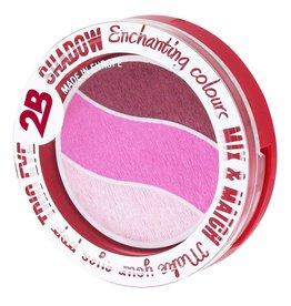 2B Cosmetics TRIO EYE SHADOW MIX & MATCH - LIGHT MEDIUM DARK PINK
